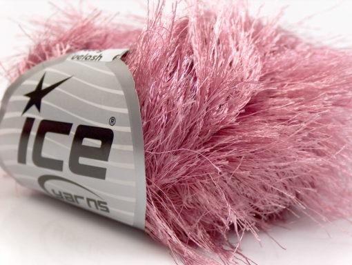 Lot of 8 Skeins Ice Yarns LONG EYELASH Hand Knitting Yarn Rose Pink