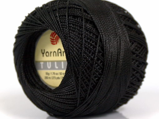Lot of 6 Skeins YarnArt TULIP (100% MicroFiber) Hand Knitting Yarn Black
