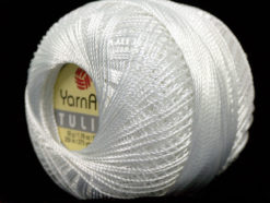 Lot of 6 Skeins YarnArt TULIP (100% MicroFiber) Hand Knitting Yarn White
