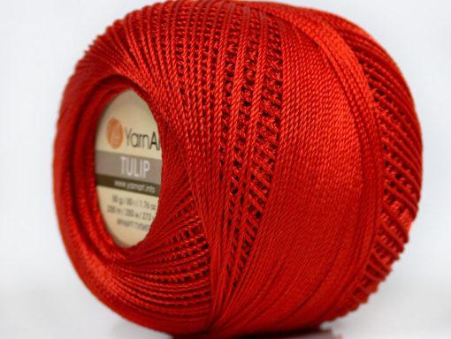 Lot of 6 Skeins YarnArt TULIP (100% MicroFiber) Hand Knitting Yarn Dark Red