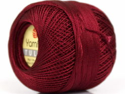 Lot of 6 Skeins YarnArt TULIP (100% MicroFiber) Hand Knitting Yarn Burgundy