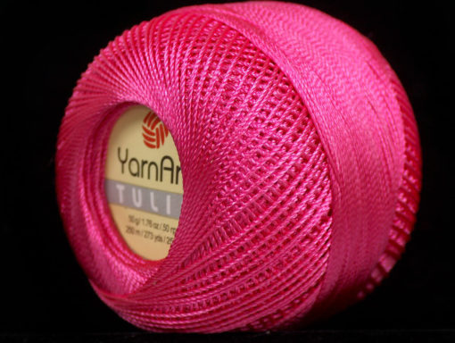 Lot of 6 Skeins YarnArt TULIP (100% MicroFiber) Hand Knitting Yarn Fuchsia