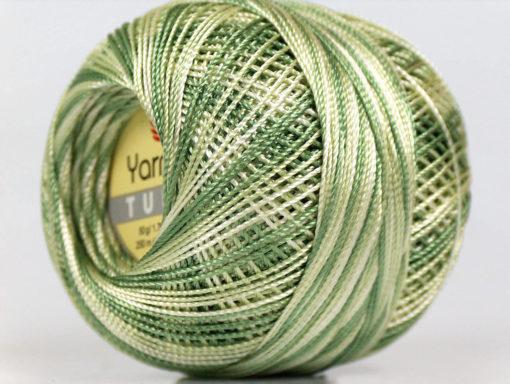 Lot of 6 Skeins YarnArt TULIP (100% MicroFiber) Hand Knitting Yarn Green Shades