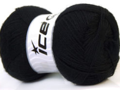Lot of 4 x 100gr Skeins Ice Yarns MERINO GOLD (60% Merino Wool) Yarn Black