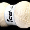 Lot of 4 x 100gr Skeins Ice Yarns MERINO GOLD (60% Merino Wool) Yarn Cream