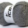 Lot of 4 x 100gr Skeins Ice Yarns MERINO GOLD (60% Merino Wool) Yarn Grey