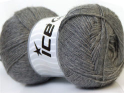 Lot of 4 x 100gr Skeins Ice Yarns MERINO GOLD (60% Merino Wool) Yarn Grey