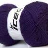 Lot of 4 x 100gr Skeins Ice Yarns MERINO GOLD (60% Merino Wool) Yarn Purple