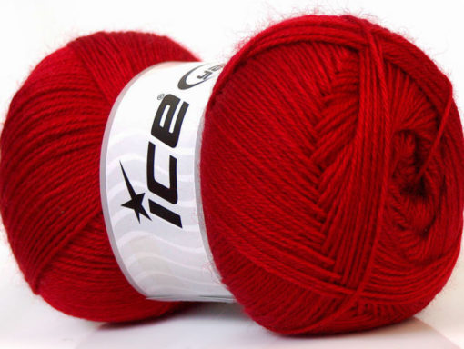 Lot of 4 x 100gr Skeins Ice Yarns MERINO GOLD (60% Merino Wool) Yarn Red