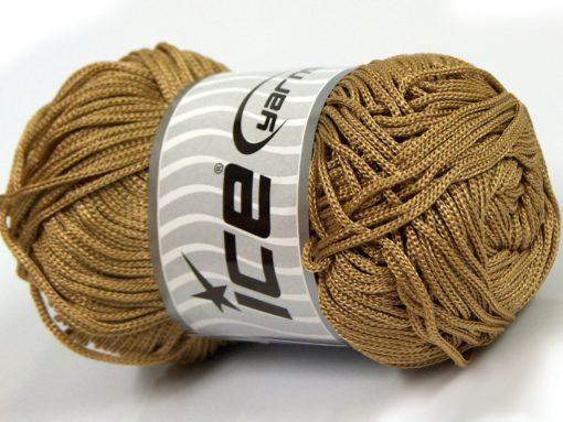 Lot of 4 x 100gr Skeins Ice Yarns MACRAME CORD Hand Knitting Yarn Camel Brown