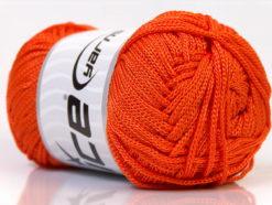 Lot of 4 x 100gr Skeins Ice Yarns MACRAME CORD Hand Knitting Yarn Orange