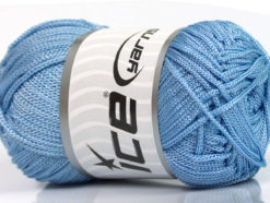 Lot of 4 x 100gr Skeins Ice Yarns MACRAME CORD Hand Knitting Yarn Light Blue