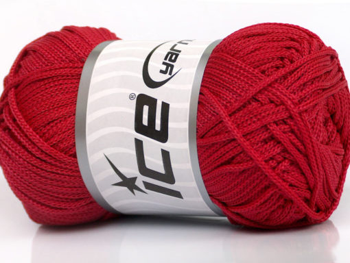 Lot of 4 x 100gr Skeins Ice Yarns MACRAME CORD Hand Knitting Yarn Red
