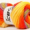 Lot of 4 x 100gr Skeins Ice Yarns MAGIC LIGHT Yarn Orange Yellow Green Camel