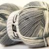 Lot of 4 x 100gr Skeins Ice Yarns BABY DESIGN Yarn Black Grey White