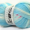 Lot of 4 x 100gr Skeins Ice Yarns BABY DESIGN Yarn Blue White Pink