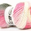 Lot of 4 x 100gr Skeins Ice Yarns MAGIC GLITZ Yarn Grey Pink Lilac White Silver