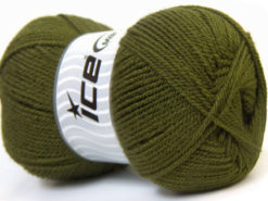 Lot of 4 x 100gr Skeins Ice Yarns GONCA Hand Knitting Yarn Dark Green