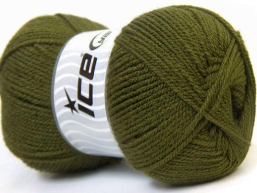 Lot of 4 x 100gr Skeins Ice Yarns GONCA Hand Knitting Yarn Dark Green
