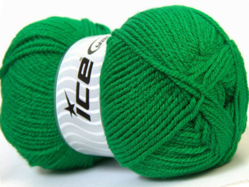 Lot of 4 x 100gr Skeins Ice Yarns GONCA Hand Knitting Yarn Jungle Green