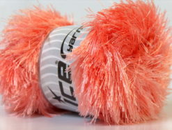 Lot of 4 x 100gr Skeins Ice Yarns EYELASH 100GR Yarn Light Salmon