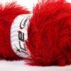 Lot of 4 x 100gr Skeins Ice Yarns EYELASH 100GR Hand Knitting Yarn Red
