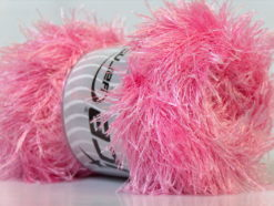 Lot of 4 x 100gr Skeins Ice Yarns EYELASH 100GR Hand Knitting Yarn Light Pink