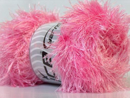 Lot of 4 x 100gr Skeins Ice Yarns EYELASH 100GR Hand Knitting Yarn Light Pink