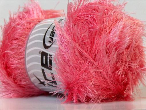 Lot of 4 x 100gr Skeins Ice Yarns EYELASH 100GR Hand Knitting Yarn Pink