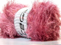 Lot of 4 x 100gr Skeins Ice Yarns EYELASH 100GR Hand Knitting Yarn Rose Pink
