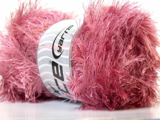 Lot of 4 x 100gr Skeins Ice Yarns EYELASH 100GR Hand Knitting Yarn Rose Pink