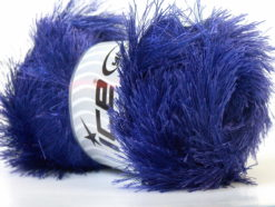 Lot of 4 x 100gr Skeins Ice Yarns EYELASH 100GR Hand Knitting Yarn Purple