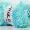 Lot of 4 x 100gr Skeins Ice Yarns EYELASH 100GR Yarn Light Turquoise