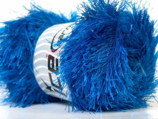Lot of 4 x 100gr Skeins Ice Yarns EYELASH 100GR Hand Knitting Yarn Blue