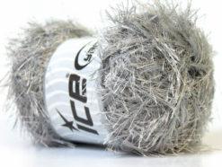 Lot of 4 x 100gr Skeins Ice Yarns EYELASH 100GR Hand Knitting Yarn Grey