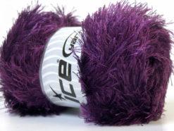 Lot of 4 x 100gr Skeins Ice Yarns EYELASH 100GR Hand Knitting Yarn Maroon