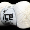 Lot of 6 Skeins Ice Yarns CAMILLA COTTON (100% Mercerized Cotton) Yarn White