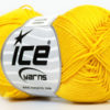Lot of 6 Skeins Ice Yarns CAMILLA COTTON (100% Mercerized Cotton) Yarn Yellow
