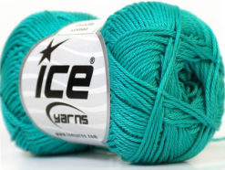 Lot of 6 Skeins Ice Yarns CAMILLA COTTON (100% Mercerized Cotton) Yarn Sea Green