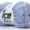 Lot of 6 Skeins Ice Yarns CAMILLA COTTON (100% Mercerized Cotton) Yarn Light Lilac