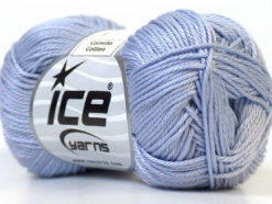 Lot of 6 Skeins Ice Yarns CAMILLA COTTON (100% Mercerized Cotton) Yarn Light Lilac