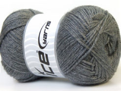 Lot of 4 x 100gr Skeins Ice Yarns DORA Hand Knitting Yarn Grey