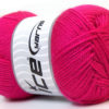 Lot of 4 x 100gr Skeins Ice Yarns DORA Hand Knitting Yarn Fuchsia