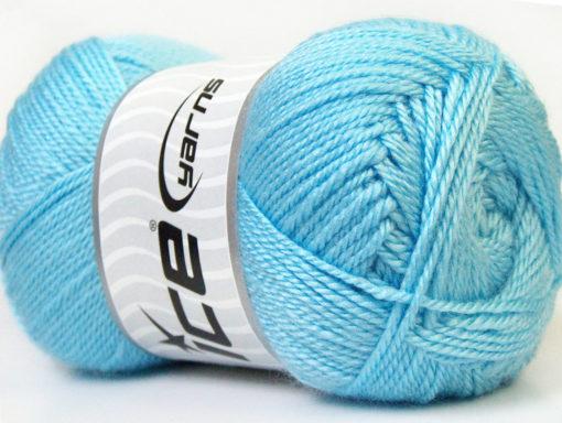 Lot of 4 x 100gr Skeins Ice Yarns DORA Hand Knitting Yarn Light Blue