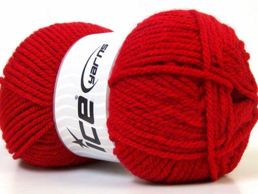 Lot of 4 x 100gr Skeins Ice Yarns Bulky ATLAS Hand Knitting Yarn Red