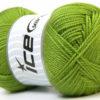 Lot of 4 x 100gr Skeins Ice Yarns DORA Hand Knitting Yarn Green