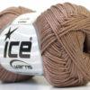 Lot of 6 Skeins Ice Yarns CAMILLA COTTON (100% Mercerized Cotton) Yarn Camel