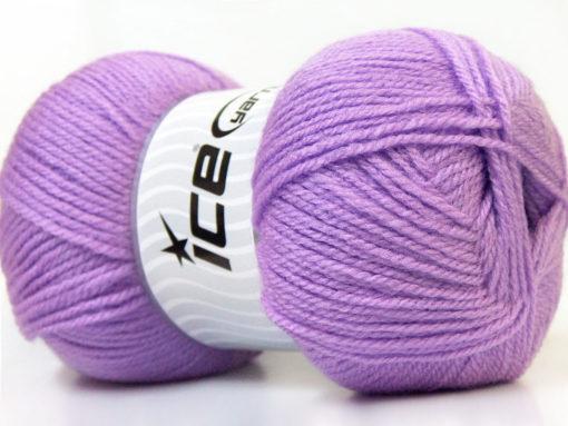 Lot of 4 x 100gr Skeins Ice Yarns SUPER BABY Hand Knitting Yarn Lavender