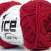 Lot of 6 Skeins Ice Yarns CAMILLA COTTON (100% Mercerized Cotton) Yarn Burgundy