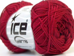 Lot of 6 Skeins Ice Yarns CAMILLA COTTON (100% Mercerized Cotton) Yarn Burgundy
